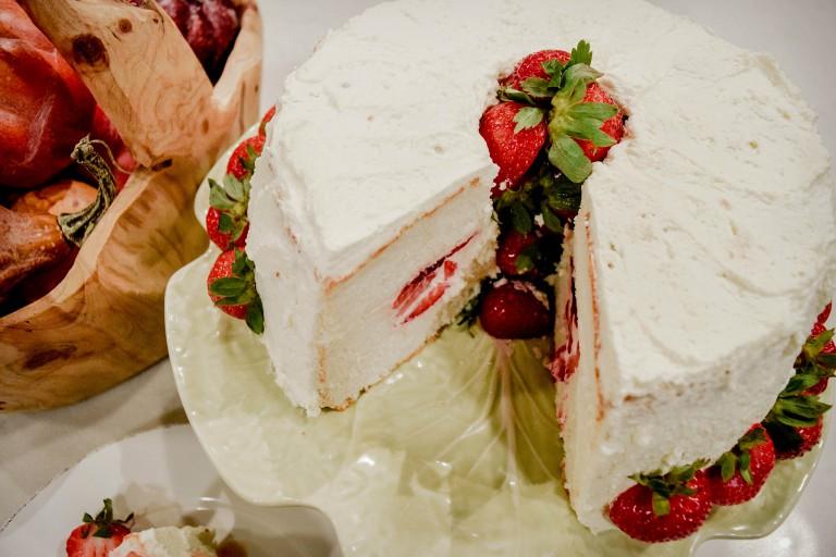 Strawberry Fluff Recipe Angel Food Cake