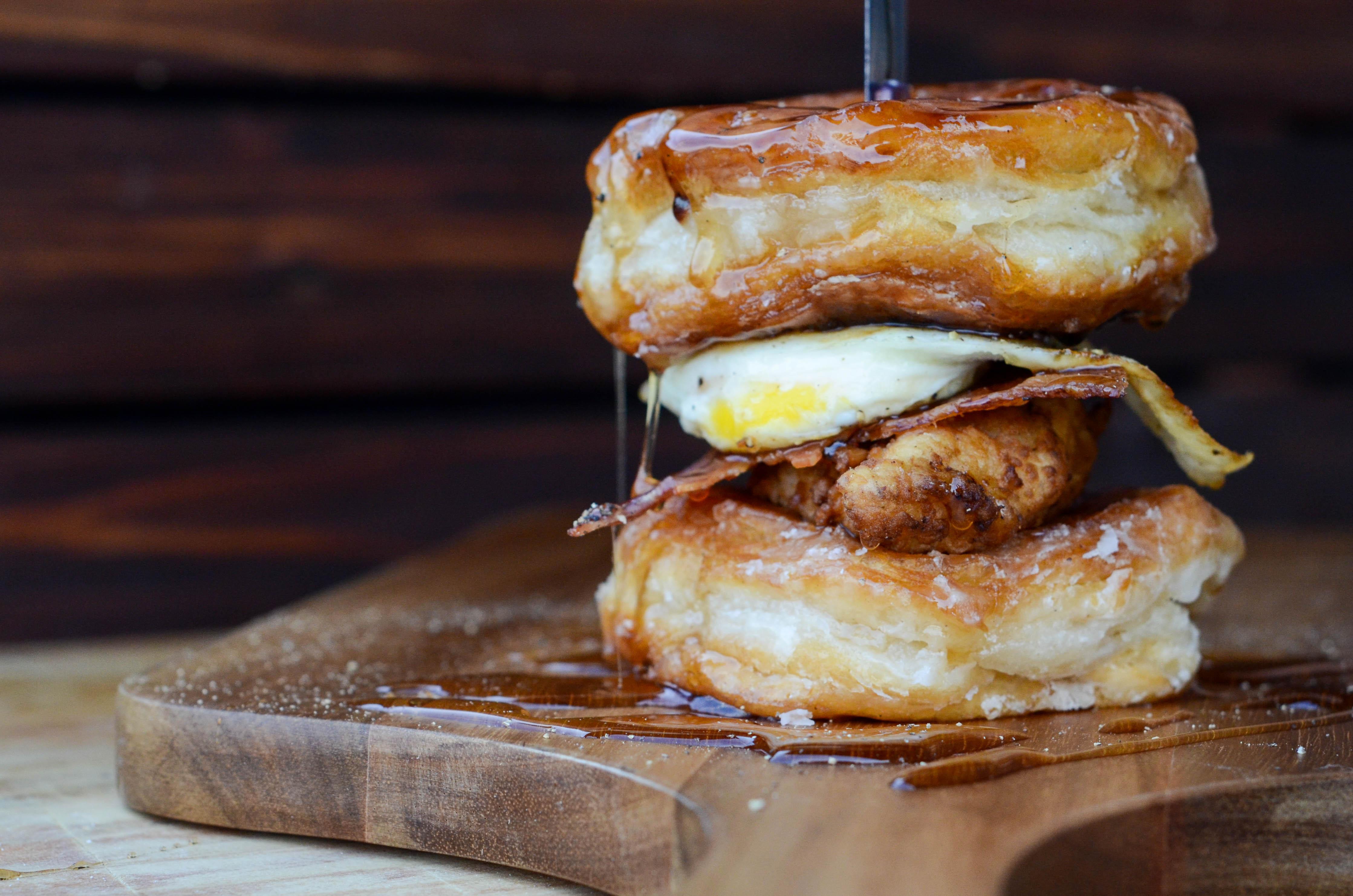 Fried Chicken And Donut Sandwich Veryvera