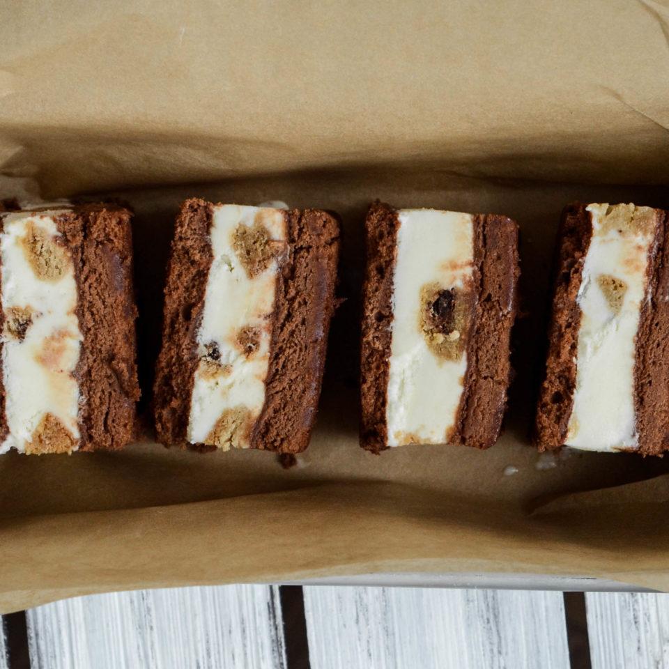 Chocolate Pound Cake Ice Cream Sandwich