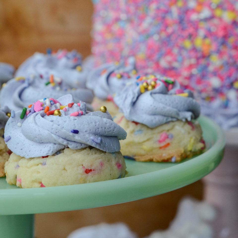 Hog Wild Sprinkle Cake Cookies