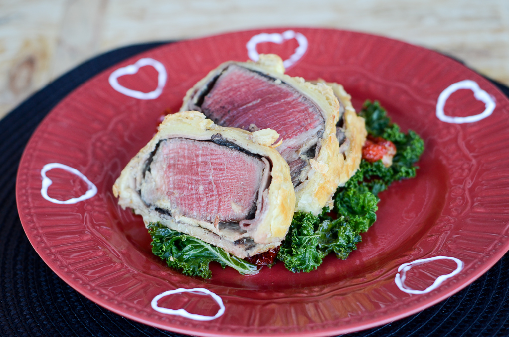Beef Wellington with a Red Wine Sauce