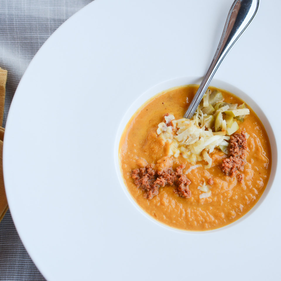 Fall Chorizo and Pumpkin Soup