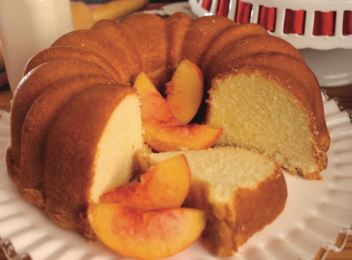 Georgia Brandied Peach Cake