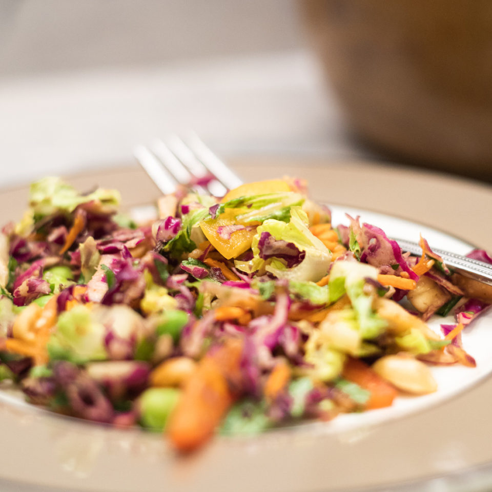 Asian Chopped Salad with Peanut Dressing